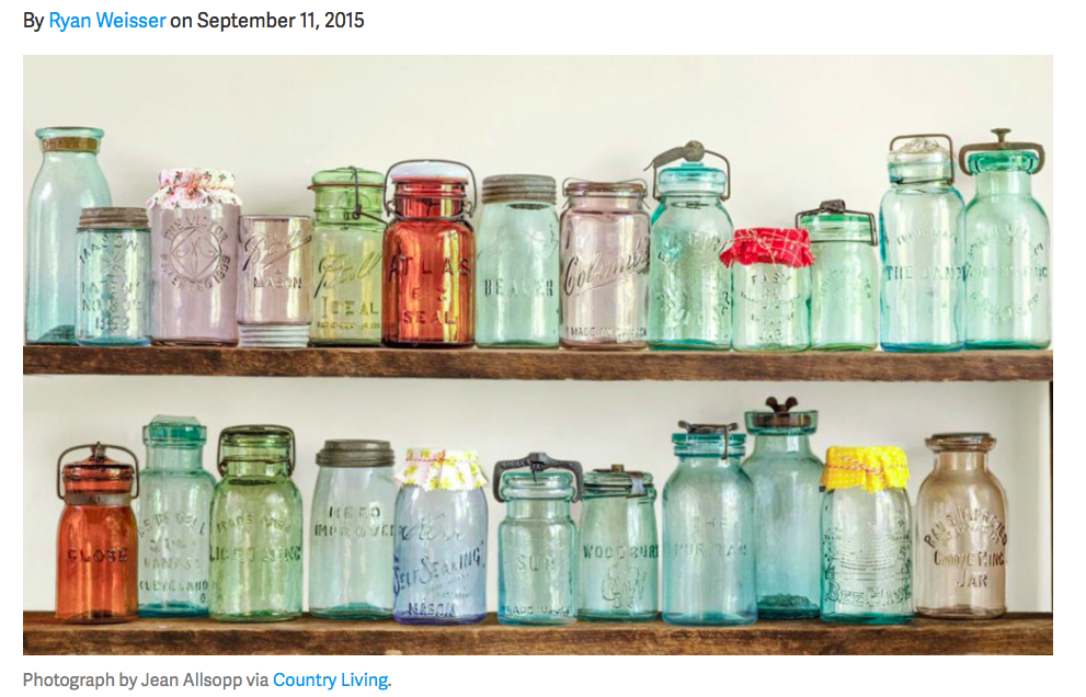 Canning jars via Country living